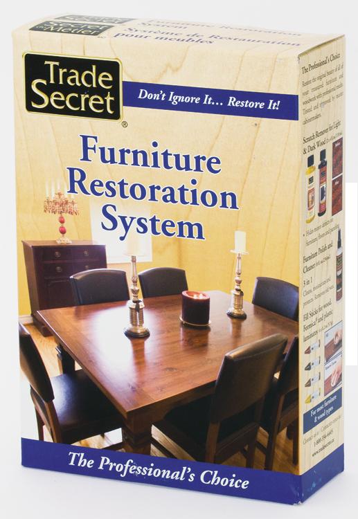 Trade secret furniture restoration system